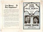 Lyceum Theatre, Memphis, program, April 1927