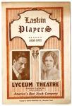 Lyceum Theatre, Memphis, program, January 1927