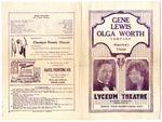 Lyceum Theatre, Memphis, program, May 1927