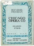 Chicago Civic Opera Company program, Memphis, 1926