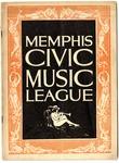 Chicago Civic Opera Company program, Memphis, 1925