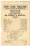 Robert B. Mantell company program, Memphis, 1919