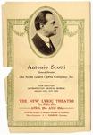 Scotti Grand Opera Company program, Memphis, 1919