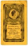 Lyric Theatre program, Memphis, 1912