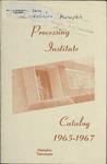 Data Processing Institute catalog, Memphis, 1965