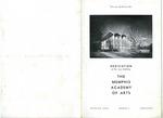 Memphis Academy of Arts building dedication program, 1959
