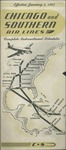 Chicago and Southern Air Lines schedule, 1947