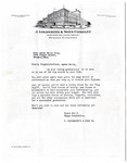 J. Goldsmith and Sons Co. letter, Memphis, circa 1940