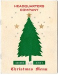 Second Army Headquarters Company menu and roster, Memphis, 1940