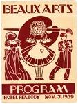 Hotel Peabody, Memphis, Beaux Arts Ball program, 1939