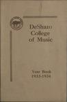 DeShazo College of Music, Memphis, catalog, 1933-1934