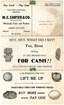 M.E. Carter & Co. fruit and produce price list, Memphis, 1933