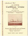 Hotel Peabody, Memphis, Caribbean cruise brochure, 1927