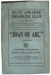 Rust College Dramatic Club program, 1927