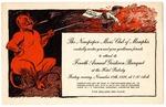 Newspaper Men's Club of Memphis banquet invitation, 1926