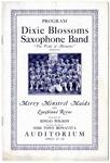 Dixie Blossoms Saxophone Band program, Memphis, 1925