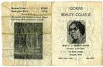 Gorine Beauty College pamphlet, Memphis, circa 1920