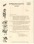 Brys department store letter, Memphis, 1917