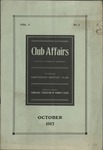 Tennessee Federation of Women's Clubs, Club Affairs, 3:1, 1917