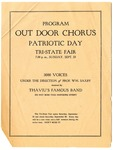 Tri-State Fair, Memphis, Patriotic Day Out Door Chorus program, 1917