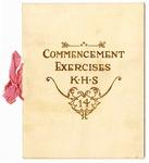 Kortrecht High School, Memphis, commencement program, 1914