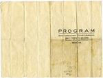 Howe Institute commencement program, Memphis, 1913