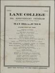 Lane College, Jackson, Tennessee, exercises program, 1912