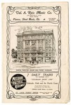 Odeon Theater program, St. Louis, 1904