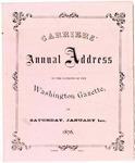Washington Gazette, Carriers' Address, 1876
