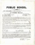 Trenton, Tennessee, Public School notice,  1874