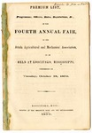 Attala, Mississippi, fair program, 1870