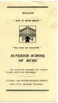 Superior School of Music pamphlet, Memphis