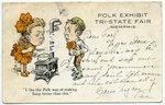 Tri-State Fair, Memphis, Polk Exhibit postcard, circa 1910