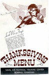 Thanksgiving menu, Naval Air Technical Training Center, Memphis, 1945