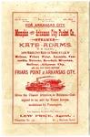 S.S. Kate Adams advertisement