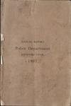 Memphis Police Department Report, 1907