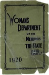 Prospectus and Premium List of the Woman's Department, Tri-State Fair, Memphis, 1920