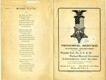 Grand Army of the Republic memorial service program, Memphis, 1906