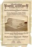 Memphis Auditorium Dedication program, October 1924