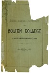 Third Annual Catalogue of Bolton College, 1890-91