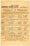 Memphis Jockey Club program, 1888