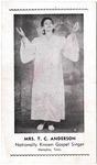 Mrs. T.C. Anderson, Nationally Known Gospel Singer. Memphis, Tenn.