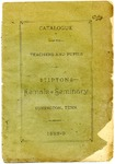 Catalogue of the Teachers and Pupils of Tipton Female Seminary, Covington, Tennessee, 1888-1889