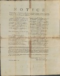 Notice of payments for military services performed in Tennessee, 1796