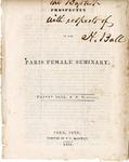 Prospectus of the Paris Female Seminary, 1839
