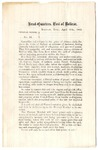 General Orders No. 12, Post of Bolivar, Tennessee, 1863