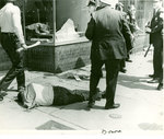 Injured Man Lying on the Sidewalk, Memphis, 1968