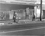 Debris-strewn Memphis street, 1968
