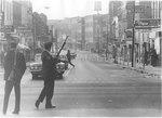 Armed police on Beale Street, Memphis, 1968