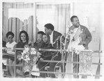 Coretta Scott King at memorial for Dr. King, Memphis, 1968
